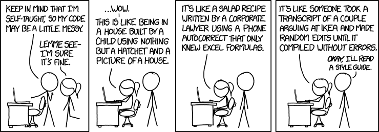 Fig 1.: Code Quality according to XKCD (https://xkcd.com/1513/)